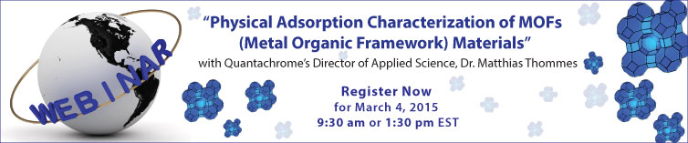 Webinar with Quantachrome's Director of Applied Science, Dr. Matthias Thommes