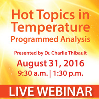 Live webinar- Hot Topics in Temperature, presented by Dr. Chalie Thibault